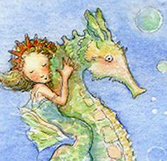 XL Mermaid Art Print Mermaid Illustration by Periwinklesky on Etsy
