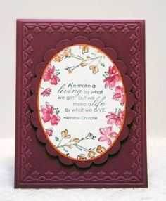 CC330 Floral Oval by sleepyinseattle - Cards and Paper Crafts at Splitcoaststampers