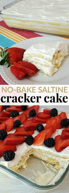 WOW your guests without all the fuss and ONLY 4 INGREDIENTS in this delicious NO BAKE SALTINE CRACKER CAKE.