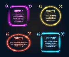 Quote Neon Frame Different Color Set Stock Vector (Royalty Free) 447147562 Neon Quotes, Graphic Quotes, Neon Symbol, Pink Neon Lights, Details Quotes, Neon Words, Neon Backgrounds, Neon Design, Letter Vector