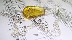 31.1ct Citrine Briolette Tear Drop Silver Necklace November $22.00