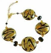 Murano Glass Jewelry From Venice - Bing Images Murano Glass Beads, Black Accents, Beaded Bracelets, Bead Necklaces, Glass Jewelry, Gold Foil, Topaz, Swarovski Crystals, Drop Earrings