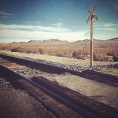 railroad crossing / iPhone4 / photoforge2 by reynhornwood, via Flickr