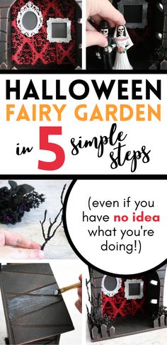 Scary Halloween Crafts, Halloween Fairy, Halloween Haunted Houses, Halloween House, Halloween Projects, Halloween Ideas, Holiday Crafts For Kids, Holiday Fun, Holiday Decor