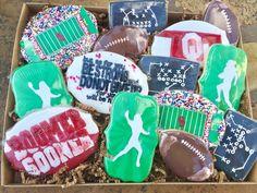 Oklahoma university football decorated sugar cookies