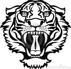Tiger head silhouette - embroidery pattern ?