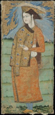 Portrait of a Young Man with a Cup Persian, Safavid Period, mid-17th century Islamic World DIMENSIONS MEDIUM OR TECHNIQUE Opaque watercolor and gold on paper  http://www.mfa.org/collections/object/portrait-of-a-young-man-with-a-cup-13908