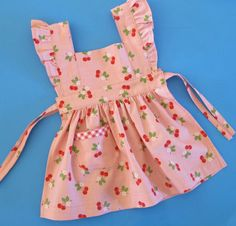 Storybook Baby Pinafore Pattern - vintage style pinafore apron dress - 0 to 24 months Printed