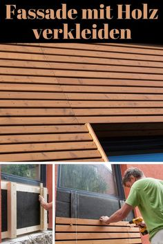 Fasadenverkleidung Haus Mit Larchenholz Holz Verkleidung Fassade