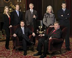 "Julie Bowen, Mark Valley, James Spader, Rene Auberjonois, Candice Bergen, William Shatner, Craig Bierko. ""Boston Legal"" - Blake Little/ABC"