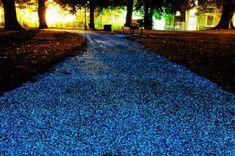 """Strade fosforescenti per il risparmio energetico [VIDEO] Illuminare le strade dei parchi di notte è costoso, la Pro-teq ha inventato uno spray per rendere le strade fosforescenti, uno speciale materiale che assorbe la luce, in particolare gli ultravioletti, questo accade durante il giorno, di notte invece il materiale rilascia una luminescenza sufficiente ad illuminare il percorso. È stato testato nel """"Christ's Piece Park"""" dell'università di Cambridge, 1600 piedi (148 metr…"""