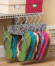 "Set of 6-Zebra Metal Shoe Closet Hangers 11"" x 7""  Sold by abc  Price: $10.36"