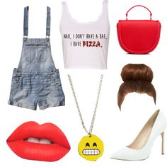 red hot by popalah on Polyvore featuring polyvore fashion style Abercrombie & Fitch River Island Lime Crime