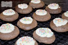 Divine chocolate sprinkle cookies, great for the lunchbox
