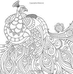 peacock Wildlife Coloring pages colouring adult detailed advanced printable Kleuren voor volwassenen coloriage pour adulte anti-stress kleurplaat voor volwassenen Line Art Black and White zentangle http://www.amazon.com/Color-Me-Mindful-Anastasia-Catris/dp/1501130889/ref=pd_sim_14_2?ie=UTF8