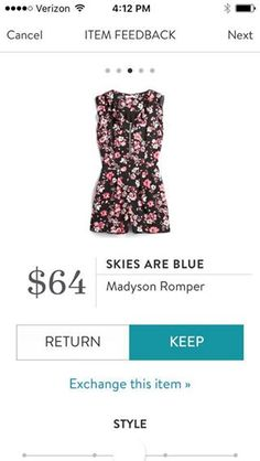 It doesn't have to be this one, but maybe this is the summer I will wear a romper?  Skies are Blue Madyson Romper Stitch Fix