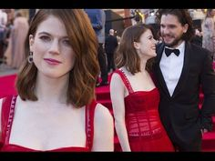 Rose Leslie purposely flashes underwear as she arrives at Olivier Awards