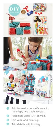 Throwing a Transformers birthday party? Let the kids make their own treat bots. Click to shop for the rest of your Transformers party gear at Target.