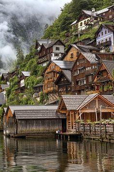 Snug up against the mountain - Hallstatt, Austria / source / by Carlos Luque