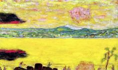 "bofransson: "" The Gulf at St. Tropez at Sunset, 1937 - Pierre Bonnard """