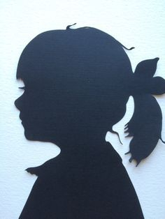 "Two Hand Cut Custom Silhouette Portraits : each 5"" � 7"" Silhouette Cameo"