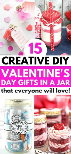 Valentine's Day mason jar gifts that are creative, unique and make a fun gift for your Valentine! Try these inexpensive DIY Valentine's gifts in a jar today for the best Valentine's Day ever in is the perfect Valentine's gift in a jar for him! Valentines Day Gifts For Friends, Birthday Presents For Mom, Diy Gifts For Mom, Diy Gifts For Friends, Best Friend Gifts, Valentines Diy, Friends Hot, Fun Gifts, Easy Gifts
