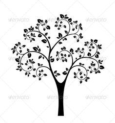 Stock Vector - GraphicRiver Black Vector Tree 4620130 » Dondrup.com