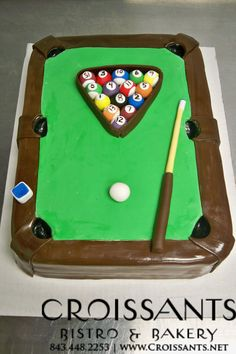 1000 Images About Pool Table Cake On Pinterest Pool