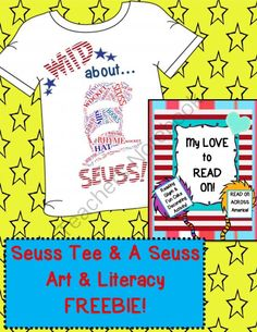 40% OFF Today and Tomorrow! Seuss Inspired Teacher Tee AND Bonus Art and Literacy Freebie! $16