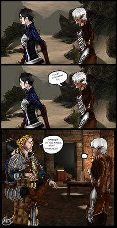 DA2: Awkwardmance by Felinna.deviantart.com on @deviantART
