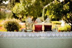 Flavorful Water Station -  a self service, fresh flavored water station available for your guests prior to the start of the ceremony  Nestldown Wedding by Courtney Lindberg Photography  Read more - http://www.stylemepretty.com/california-weddings/los-gatos/2011/11/23/nestldown-wedding-by-courtney-lindberg-photography/