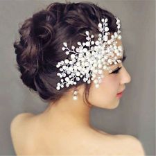 BRIDAL WEDDING CRYSTAL JEWEL DIAMANTE HAIR COMB CLIP SLIDE FASCINATOR PROM PARTY
