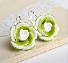 polymer clay flower earrings - handmade náušnice kvety od ketlin / v susedstve snežienok
