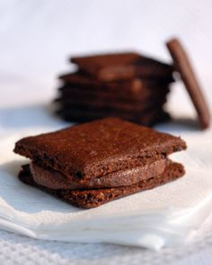 A crisp creamy chocolate thins sandwich...did I mention they are gluten free and healthy too!
