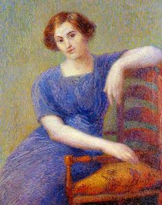 sitting woman by Hippolyte Petitjean