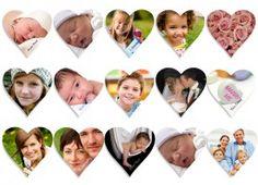 Magnetbilder in Herzform mit eigenen Lieblingsbildern