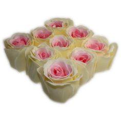 Bath Roses - 9 Roses in Gift Box (Peach)