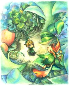 Artwork of Link with the Minish Cap in the Legend of Zelda: the Minish Cap by Hano Pepper