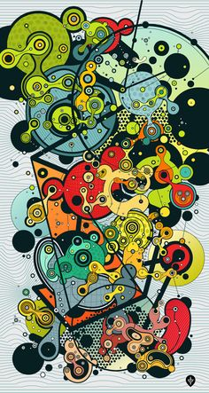 by Evgeny Kiselev.  I want to BE this picture. Left and right side of the brain at work - technically intricate and almost mathematically structured with a splash of creativity.