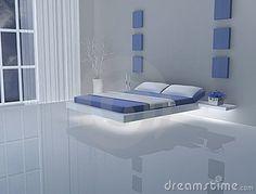 ideeën over Blauw Witte Slaapkamers op Pinterest - Witte Slaapkamers ...