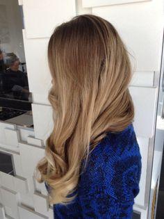 Blonde ombré hair
