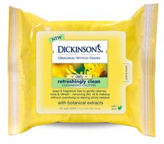 I use a different brand of wipes almost every night, so I'll be interested to see how these stack up!  Dickinson's Original Witch Hazel Daily Refreshingly Clean Cleansing Cloths #SunshineVoxBox #SelfieReadySkin #contest