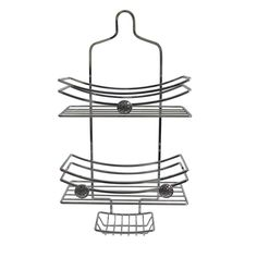 Woven Knob Chrome Shower Caddy - Overstock™ Shopping - The Best Prices on Other Bath Accessories