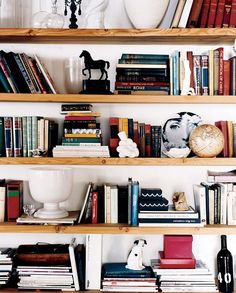bookshelves, stylist Lili Diallo | Domino • Ditte Isager