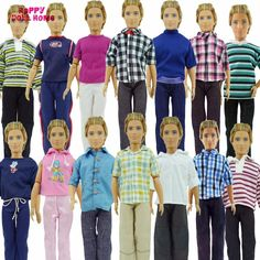 Randomly Pick 3 Sets Men Cool Casual Suit Clothes Prince Fashion Wear Outfit For Barbie Friend Ken Doll Best Gift baby Toys