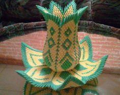origami 3D florero Lotus