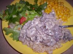 365 Days of Slow Cooking: Day 46: Slow Cooker Beef Stroganoff with Rice