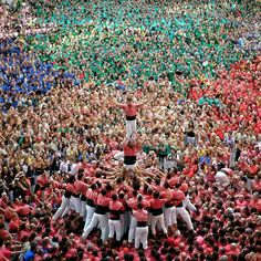 XXV Concurs de Castells. 4de9fa c per la Colla Vella Xiquets de Valls. Foto d'Albert Anguera Roig @aangueraroig a Instagram. #humantowers #castells #culture #castellers