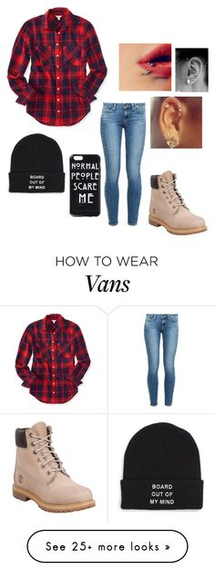 """Lumber girl"" by miamia2013 on Polyvore featuring Timberland, Paige Denim, Aéropostale and Vans"