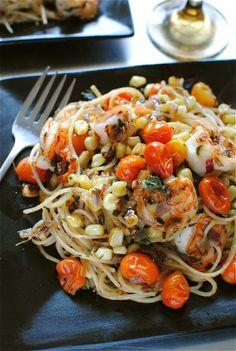 Shrimp and Corn Pasta